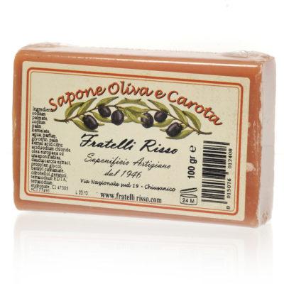 Savonnette végétale à l'huile d'olive et extrait de carotte