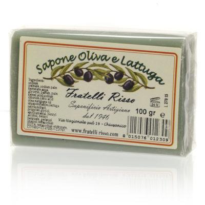 Savon végétal à l'huile d'olive et extrait de laitue