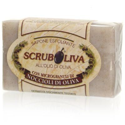 sapone scrub con noccioli di olive da 150 gr.